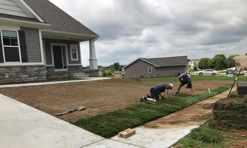 Properly Grading A Front Yard To Install Sod