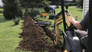 French Drain installation in Newark Ohio
