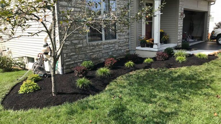 Low Maintenance Landscape Installation In Granville Ohio