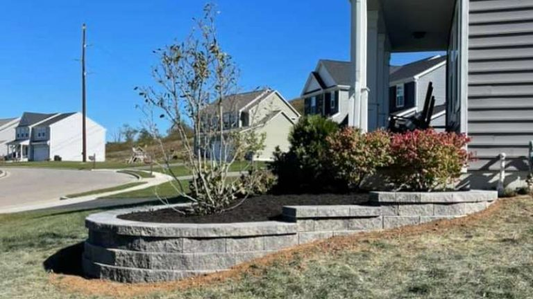 Focal Bed Retaining Wall For Curb Appeal In Newark, OH